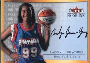 Carolyn Jones- Young Autographed 2000 Fleer Skybox Card - Autographed WNBA -