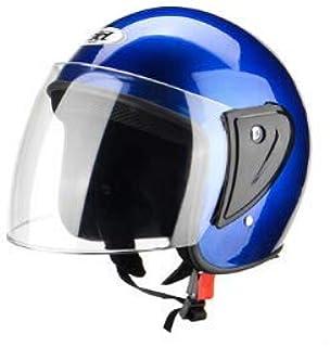Wooya Media Cara Abs Motos Casco Protecciones Transpirable Ajustable Unisex-Azul