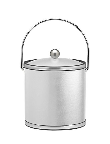 Kraftware Vinyls and Mylars Ice Bucket, 3 quart, White (Qt Ice 3 Mylar Bucket)