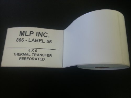 4 Rolls - Direct Thermal 4 x 6 Labels, 1000 Total, for Zebra, Eltron, and Samsung Printers
