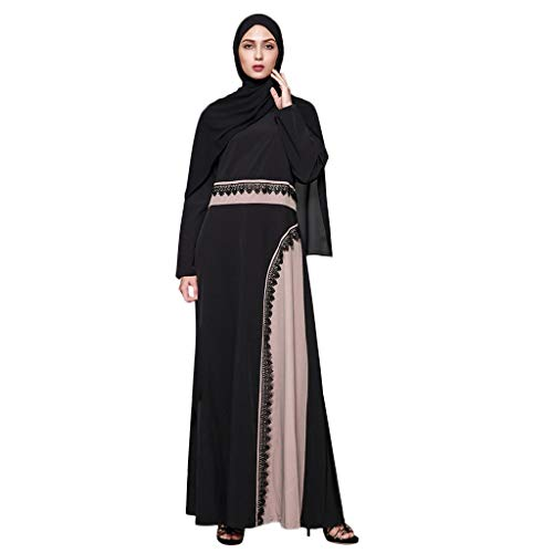 Euone Dress Clearance, Women Ethnic Robes Abaya Islamic Muslim Middle East Maxi Dress Bandage Kaftan