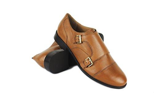 Zapatos Para De Tan Piel Zerimar Planos Mujer Medio Mujer Tacon U4RqOtxOwd