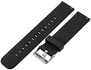 Wenquan,Bracelet de Montre de Silicone de Sports de 20MM pour Amazfit Bip BIT PAC(Color:Noir)