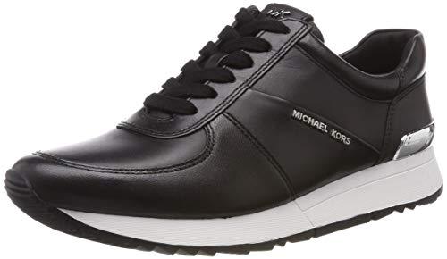 Michael Michael Kors Women's Allie Trainer Black Suprema Nappa Sport/Saffiano Sneaker 9 M (Michael Kors Fashion Store)