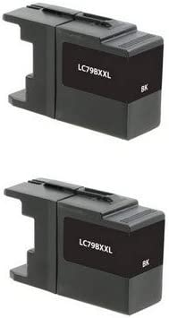 SuppliesMAX Compatible Replacement for Brother MFC-J5910//J6510//J6710//J6910DW Black Inkjet 2//PK-2400 Page Yield LC-79BK/_2PK