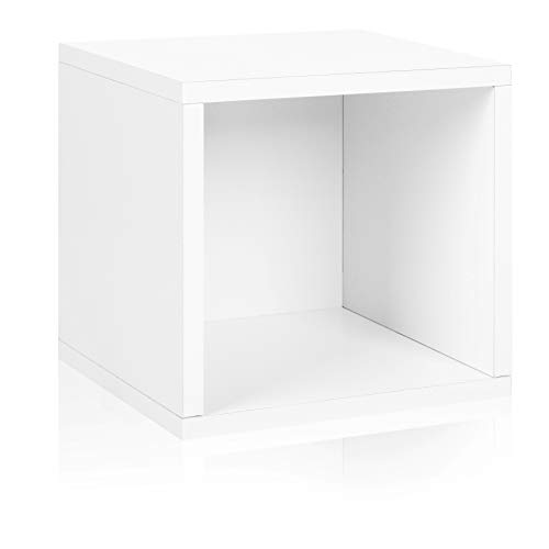Way Basics BS-285-340-320-WE Eco Stackable storage cube, White