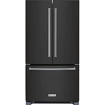 KitchenAid Black Stainless Steel Counter Depth French Door Refrigerator