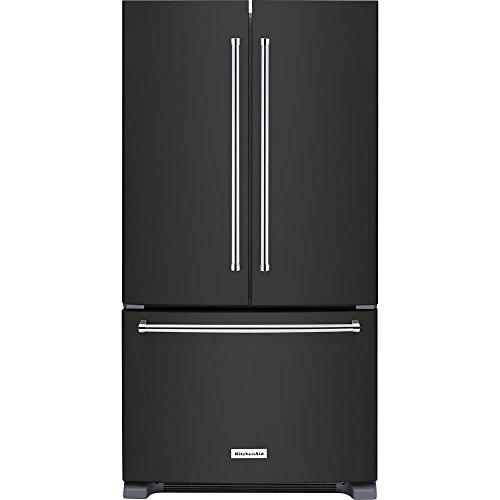 KitchenAid KRFC300EBS 20 Cu. Ft. Black Stainless French Door Refrigerator - Black Refrigerator Kitchenaid
