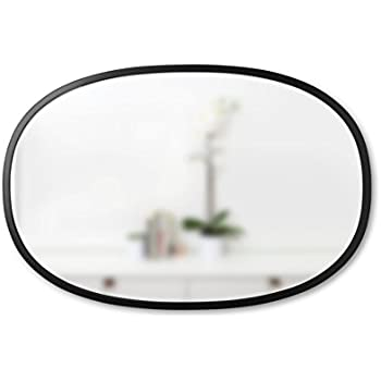 Amazon.com: Carolina Cottage Oval Mirror, Antique Black: Home & Kitchen