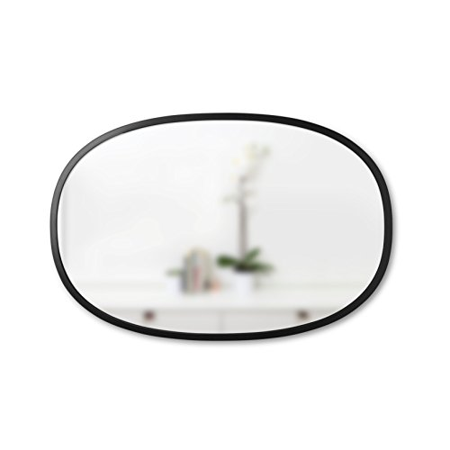 Umbra Hub Oval Wall Mirror, 36-Inch, Black