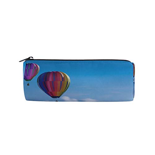 Balloon Lighthouse Pencil Case Cylinder Large Capacity Pencil Holders with Zipper Cosmetic Makeup Bag