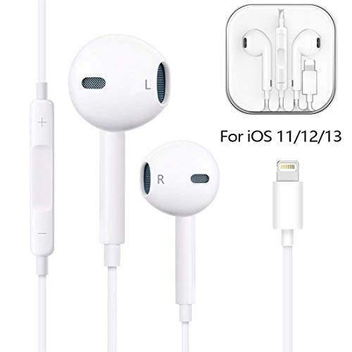 Earbuds, Microphone Earphones Stereo Headphones Noise Isolating Headset Fit Compatible with iPhone Xs/XR/XS Max/iPhone 7/7 Plus iPhone 8/8Plus /iPhone Earphones (1-Pack)
