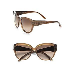 Dior xli XLI D8 Brown Grandball Cats Eyes Sunglasses