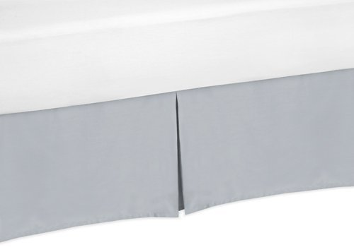 Sweet Jojo Designs Gray Queen Bed Skirt for Gray and White Chevron Bedding Set Collection by Sweet Jojo Designs (Image #2)