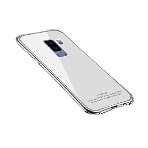 Price comparison product image ANERNAI Galaxy S9 Metal Frame + Tempered Glass Back Ultra Thin Shockproof Cover for Samsung Galaxy S9 (White)