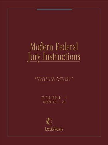 Modern Federal Jury Instructions Volume 1 Criminal Kindle