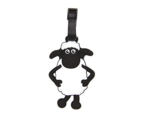 CellDesigns Cartoon Luggage Tag Suitcase ID Tag with Adjustable Strap (Shaun The Sheep)
