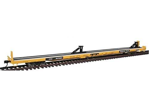 Walthers Proto 920-104210 89' Bethlehem Flush Deck Flatcar Trailer Train LGE Logo 1