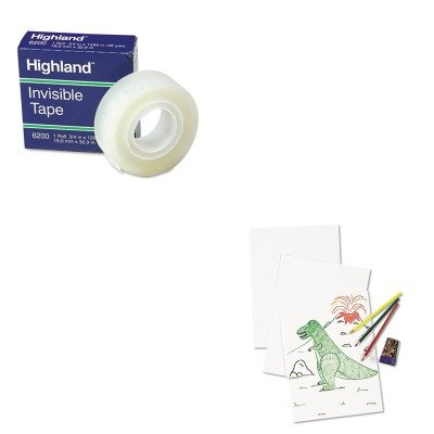 KITMMM6200341296PAC4818 - Value Kit - Pacon White Drawing Paper (PAC4818) and Highland Invisible Permanent Mending Tape (MMM6200341296)