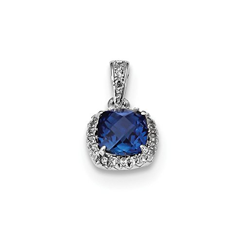 925 Sterling Silver Created Blue White Sapphire Pendant Charm Necklace Fancy Fine Jewelry Gifts For Women For Her