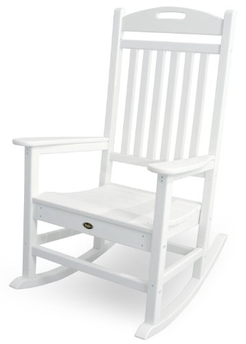 Trex Outdoor Furniture Yacht Club Rocker Chair, Classic White ()