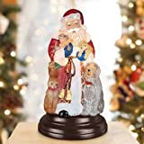 Old World Christmas Night Light Figurine - Santa's Furry Friends