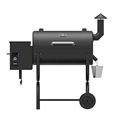 Z GRILLS Pellet Grill Pro 7 in 1 Electric Wood Pellet Smoker Grill - 550 sq.in Cooking Area for Outdoor BBQ Smoker Grill Roast Bake Braise and BBQ with Waterproof Grill Cover