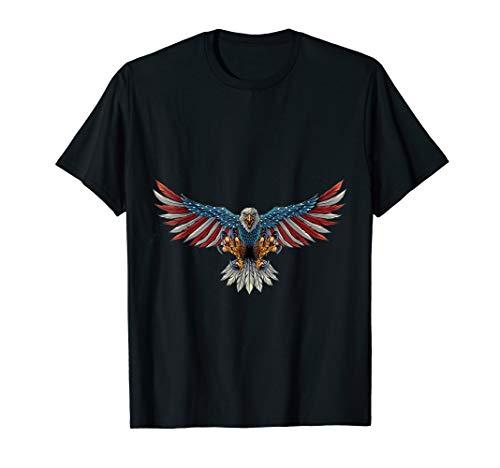 USA Eagle American Flag Shirt 4th of July Freedom Pride Tee T-Shirt ()