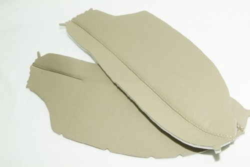 Ivory Coupe - Honda Accord Coupe Tan Ivory Real Leather Door Panel Armrest Covers (Leather Part Only)