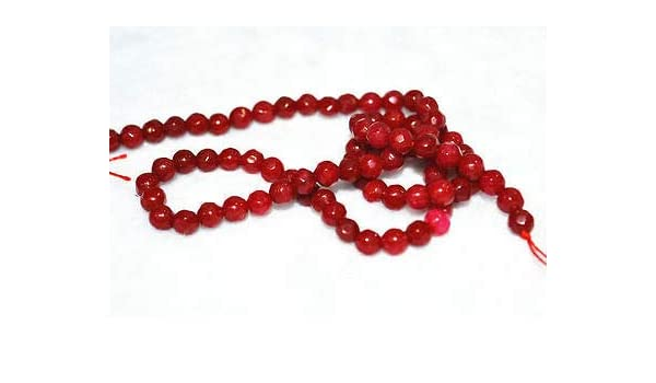"""NEW 4mm Natural pink  ruby gemstone Faceted Round Loose Beads 15/"""" AA"""