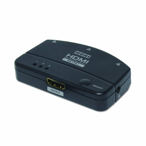 HORI HDMI Selector 3-Port MINI with Remote and 3D 1080p