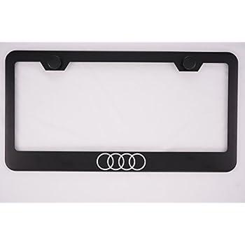 Amazon.com: Audi Black License Plate Frame with Caps: Automotive
