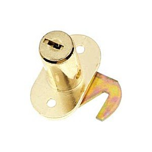 (Sterling Folding Door Lock, CD-1064-B Brass Finish)