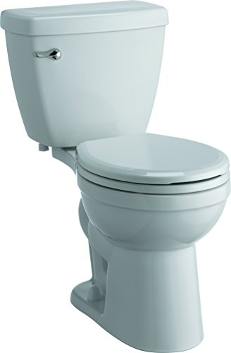 Delta Faucet C01905-S-WH Haywood Chair Height Round 1.28 GPF Toilet with Slow-Close Seat, ()