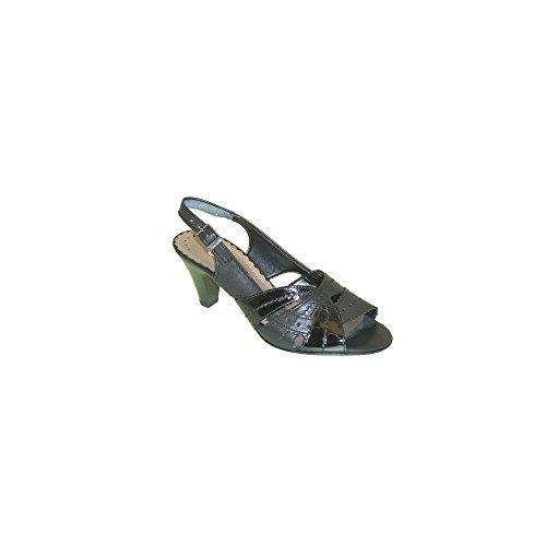 Nero Nera vernice Strappy sandalo Modello Gabor b wOqUva