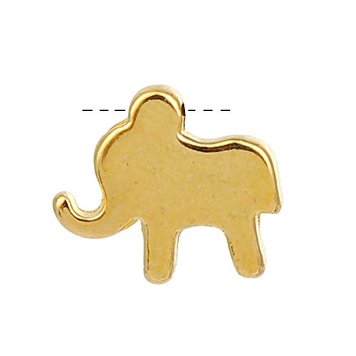 """PEPPERLONELY 30pc Plated Gold Alloy Elephant Animal Charms Pendants 12 x11mm(4/8"""" x 3/8"""")"""