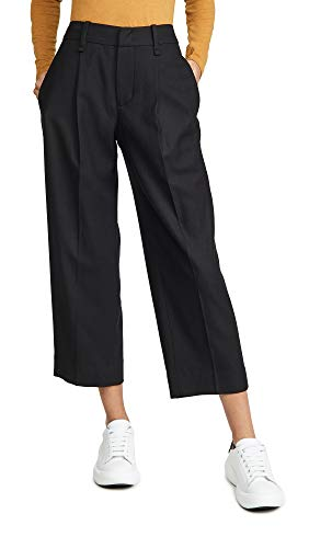 Vince Women's Pleat Front Crop Pants, Black, 10