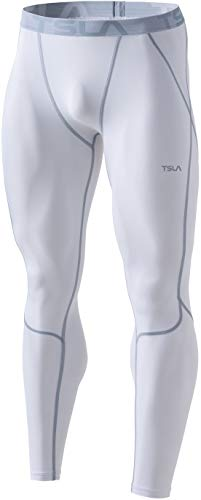 TSLA Men's Compression Pants, Athletic Sports Yoga Leggings & Workout Running Tights, Cool Dry Base Layer Bottoms, Active(mup