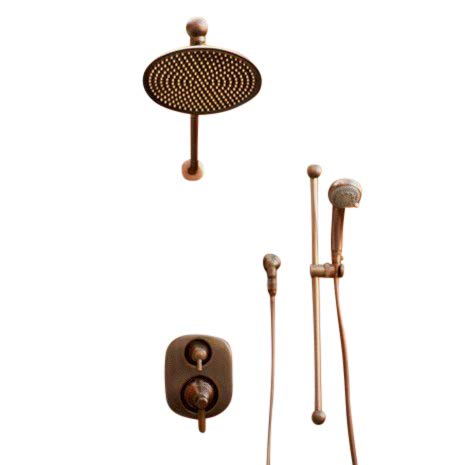 Complete Oil Rub Bronze Rain Shower System Includes Moen Valve and Trim