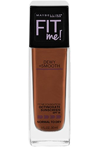 Maybelline New York Fit Me Dewy + Smooth Foundation, Mocha, 1 Fl. Oz (Pack of 1) (Packaging May Vary)
