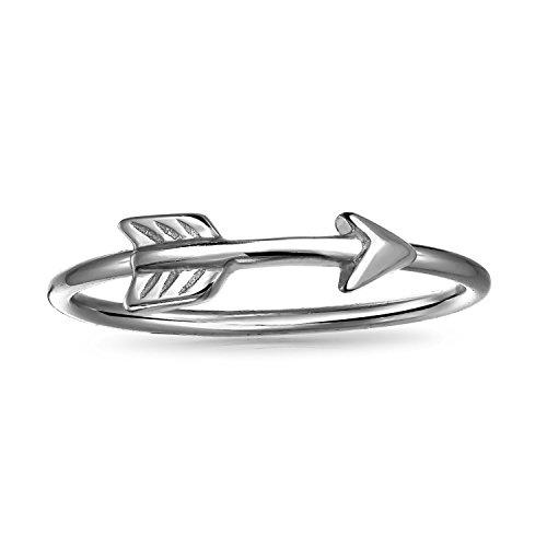 Bling Jewelry Fina Plata De Ley 925Cupido flecha anillo de Midi