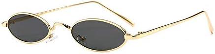 MIRCHEN Mann Frau Sonnenbrille Frauen Retro Sonnenbrille, kleine ovale Gläser
