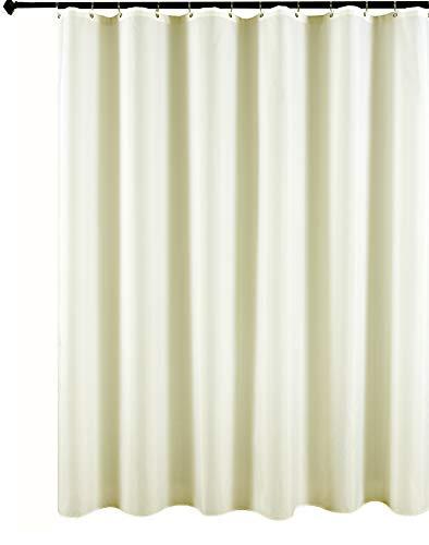 Biscaynebay Fabric Shower Curtain Liner, Waterproof Water Resistant Bathroom Curtain Liner, 72 X 72, Ivory