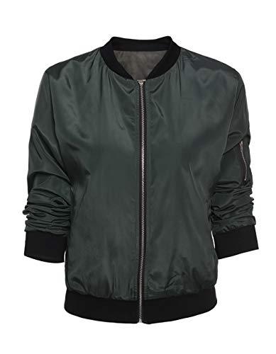 Solid Windbreaker Donna Cappotti E Ladies Size Plus Green Cappotto Autunno Short Jacket Yhxmg Zogaa Casual Giacche Giacca Per 2018 qwznP1O