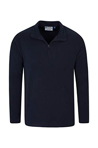 Mountain Warehouse Mens Camber Fleece Top - Lightweight Top, Breathable Sweater, Quick Drying Pullover, Extra Ventilation - Ideal for Winter Walking