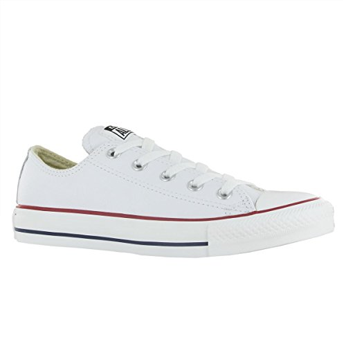 Converse Unisex Chuck Taylor Leather White Sneaker - 6 Men - 8 - Oxfords Classic Converse