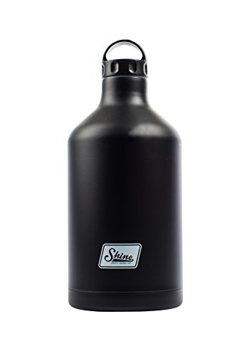 Vintage Black 64 OZ. Growler by Shine Craft Vessels