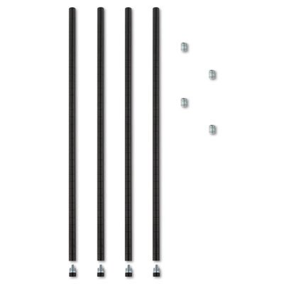 Alera ALESW59PO36BL Stackable Posts for Wire Shelving, 36
