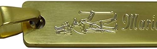 Colgante de Acero Inoxidable Dorado Grabado Personalizado Cartucho Egipcio patrickgravure