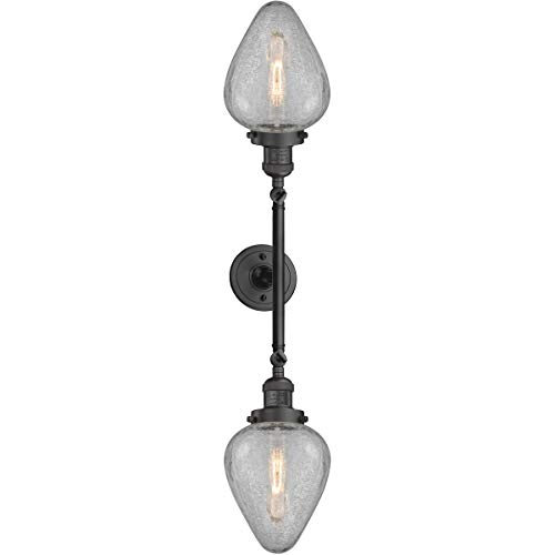 Bathroom Vanity 2 Light Fixtures with Oil Rubbed Bronze Finish Cast Brass/Glass Material Medium 7